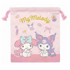 Japan Sanrio Drawstring Bag - My Melody & Kuromi