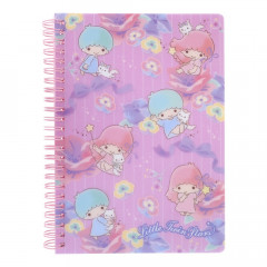 Sanrio A5 Twin Ring Notebook with File - Little Twin Stars / Flower