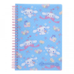 Sanrio A5 Twin Ring Notebook with File - Cinnamoroll / Flower