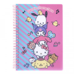 Sanrio A5 Twin Ring Notebook with File - Mix