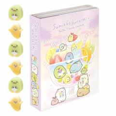 Japan San-X Memo & Mini Eraser Set - Sumikko Gurashi / Fruit Vacation A