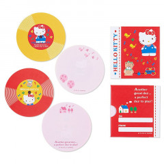 Japan Sanrio Disc Record Memo Pad - Hello Kitty