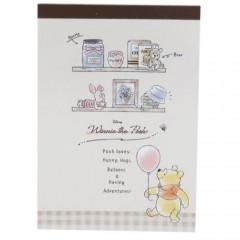 Japan Disney A6 Notepad - Winnie the Pooh
