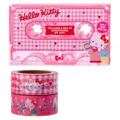 Japan Sanrio Cassette Washi Masking Tape Set - Hello Kitty