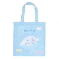 Japan Sanrio Cotton Tote Bag - Cinnamoroll / Starry Sky