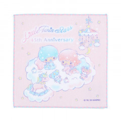 Japan Sanrio Handkerchief Petit Towel - Little Twin Stars / 45th Anniversary Baby Dream