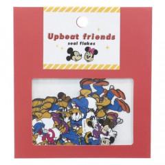Japan Disney Upbeat Friends Seal Flakes Sticker - Mickey & Friends