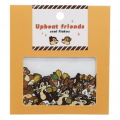 Japan Disney Upbeat Friends Seal Flakes Sticker - Chip & Dale