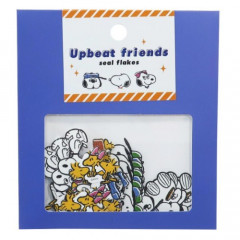 Japan Snoopy Upbeat Friends Seal Flakes Sticker - Family