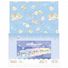 Japan San-X Sumikko Gurashi Letter Envelope Set - Starry Sky Walk B