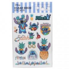 Japan Disney Clear Deco Sticker Stickers - Stitch