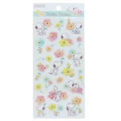 Japan Peanuts Glitter Sticker - Snoopy / Flower