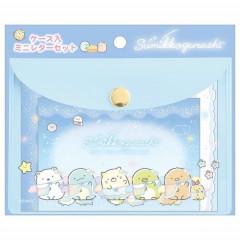 Japan San-X Sumikko Gurashi Mini Letter Set with Case - Starry Sky Walk A