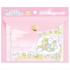 Japan San-X Sumikko Gurashi Mini Letter Set with Case - Starry Sky Walk B