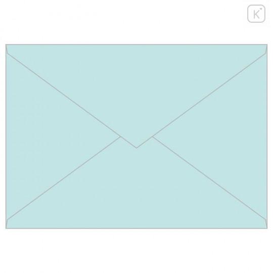 Japan San-X Rilakkuma Fluorescent Silk Printing Letter Envelope Set - Blue - 3
