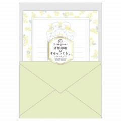 Japan San-X Sumikko Gurashi Letterpress Printing Letter Envelope Set - Green