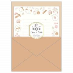 Japan San-X Sumikko Gurashi Letterpress Printing Letter Envelope Set - Brown