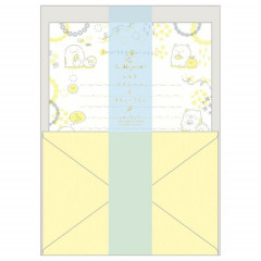 Japan San-X Sumikko Gurashi Fluorescent Silk Printing Letter Envelope Set - Yellow