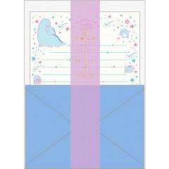 Japan San-X Sumikko Gurashi Fluorescent Silk Printing Letter Envelope Set - Blue