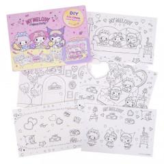 Sanrio DIY Coloring Paper Craft Set - My Melody & Kuromi