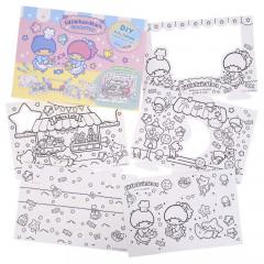 Sanrio DIY Coloring Paper Craft Set - Little Twin Stars