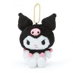 Japan Sanrio Fluffy Keychain Plush - Kuromi