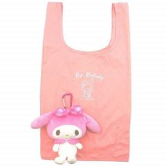 Japan Sanrio Keychain Plush Shopping Bag - My Melody