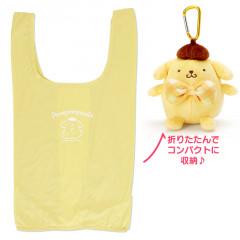 Japan Sanrio Keychain Plush Shopping Bag - Pompompurin
