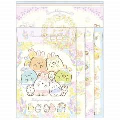 Japan San-X Letter Envelope Set - Sumikko Gurashi / Mysterious Rabbit Oniwa A
