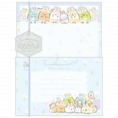 Japan San-X Letter Envelope Set - Sumikko Gurashi / Mysterious Rabbit Oniwa B