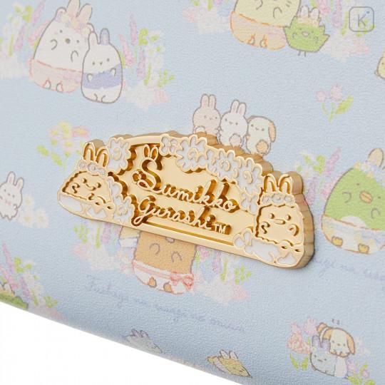 Japan San-X Circular Pouch with Tissue Case - Sumikko Gurashi / Mysterious Rabbit Oniwa - 3
