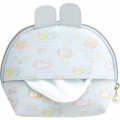 Japan San-X Circular Pouch with Tissue Case - Sumikko Gurashi / Mysterious Rabbit Oniwa - 6
