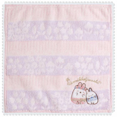 Japan San-X Handkerchief Mini Towel - Sumikko Gurashi / Mysterious Rabbit Oniwa A