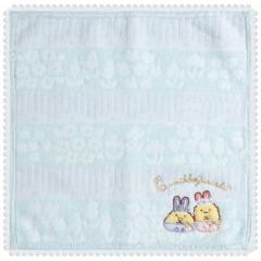 Japan San-X Handkerchief Mini Towel - Sumikko Gurashi / Mysterious Rabbit Oniwa B