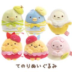 Japan San-X Mini Plush (SS) 6pcs Set - Sumikko Gurashi / Fruit Vacation