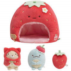 Japan San-X Scene Plush Toy - Sumikko Gurashi / Strawberry Fair