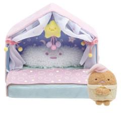Japan San-X Scene Plush Toy - Sumikko Gurashi / Baby Room Bed