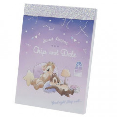 Japan Disney Mini Notepad - Chip & Dale Star Night