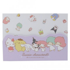 Japan Sanrio A6 Notepad with Cover - Sanrio Family