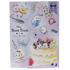 Japan Disney A6 Notepad with Cover - Tsum Tsum / Cake