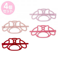 Japan Sanrio Colorful Hair Clip 4pcs Set - My Melody / Face
