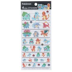 Japan Pokemon 4 Size Sticker - Kanto