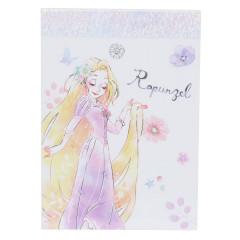 Japan Disney B8 Mini Notepad - Rapunzel Smile
