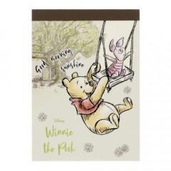 Japan Disney Mini Notepad - Winnie the Pooh & Piglet Good Morning Sunshine