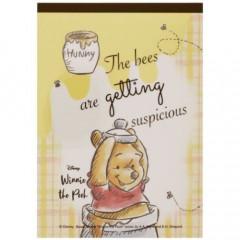 Japan Disney A6 Notepad - Winnie the Pooh Good Morning Sunshine