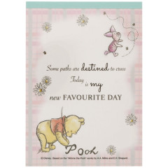 Japan Disney A6 Notepad - Winnie the Pooh Favorite Day