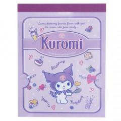 Japan Sanrio Mini Notepad - Kuromi / Cook