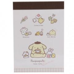 Japan Sanrio Mini Notepad - Pompompurin / Tea Time