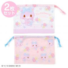 Japan Sanrio Drawstring Bag 2pcs Set - Mewkledreamy / Perfume