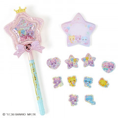 Japan Sanrio Pen & Memo Set - Mewkledreamy / Magic Wand